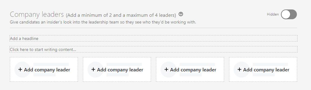 zogeheten company leaders toevoegen aan je linkedin carrièrepagina